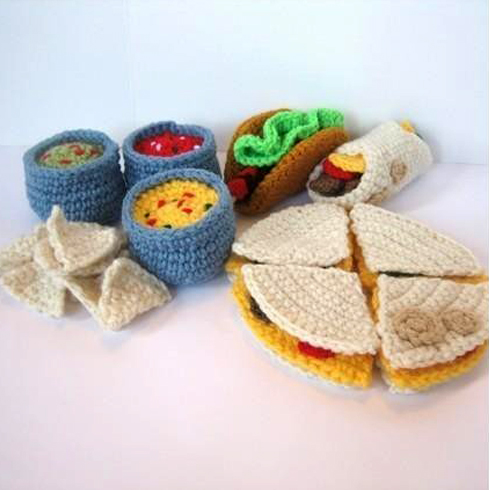 Crochet Patterns Free Food :  CROCHETED FOOD PATTERNS