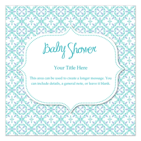 Baby shower invite by Claudia Owen for PIngg 1