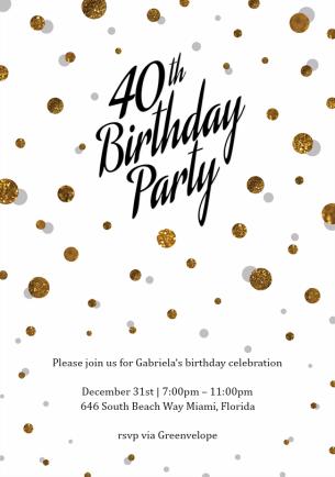 40th-extravaganza-invitations-gold-by Claudia Owen