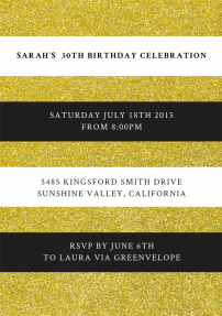 luxe-stripe-invitations-by Claudia Owen