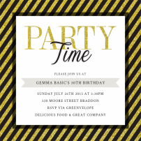 party-time-invitations-by Claudia Owen