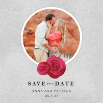 rose-window-save-the-dates-by Claudia Owen