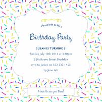 sprinkle-pattern-invitations-by Claudia Owen