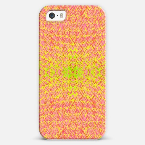 Burning fire phone cover by Claudia Owen