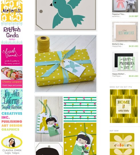 Print and pattern blog Claudia Owen ad