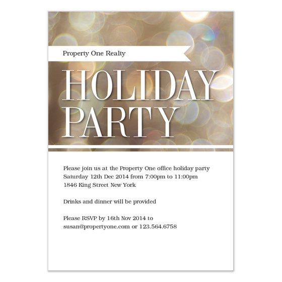 Holiday Party Card by Claudia Owen for Celebrations