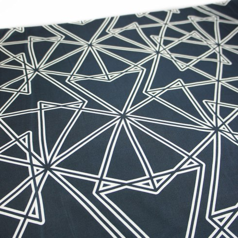Black Symmetry Silk Scarf By Claudia Owen 5