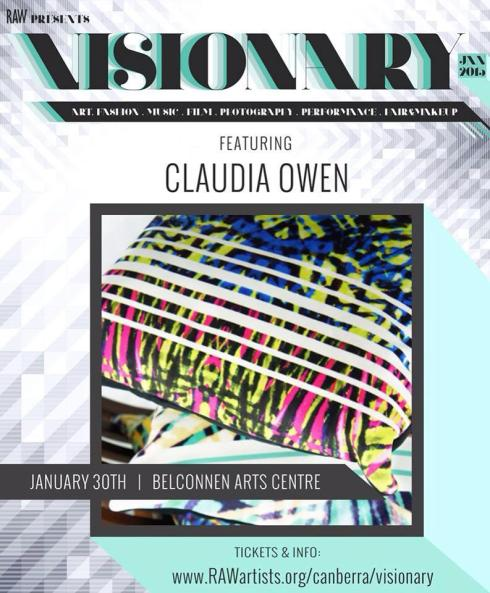 Claudia Owen RAW show Visionary poster