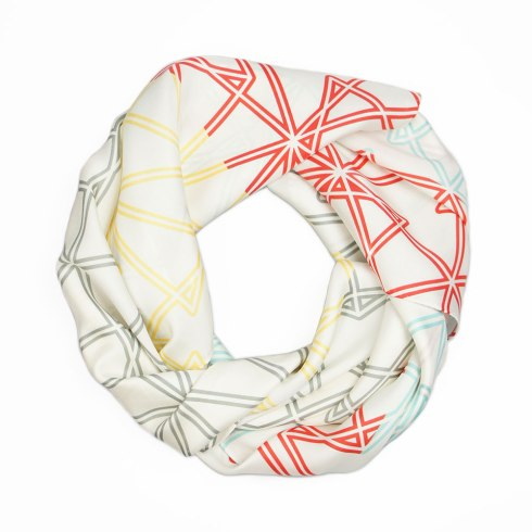 Symmetry Silk Scarf By Claudia Owen 3