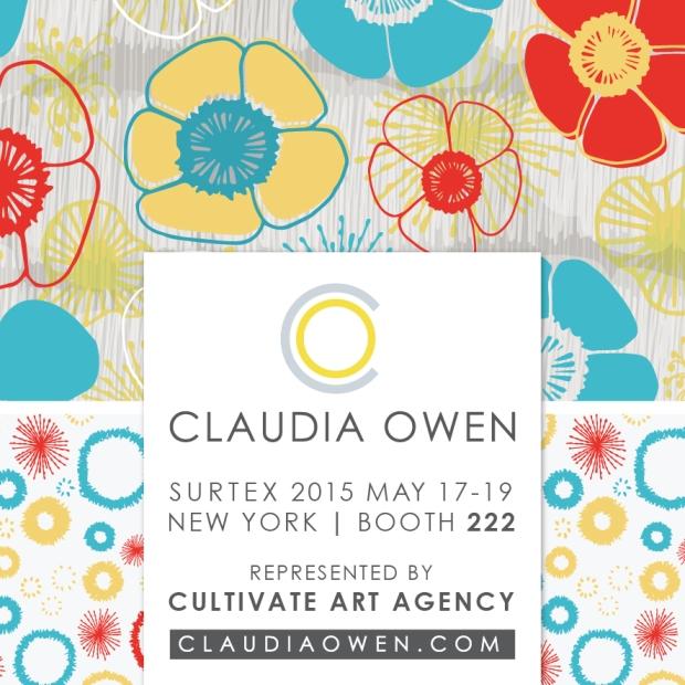 Claudia Owen Surtex 2015 flyer