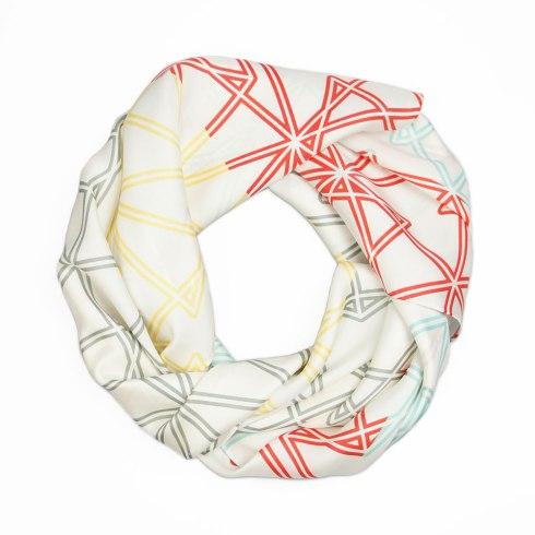 Symmetry Silk Scarf By Claudia Owen