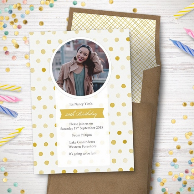Birthday Party Invite Card by Claudia Owen for Greenvelope