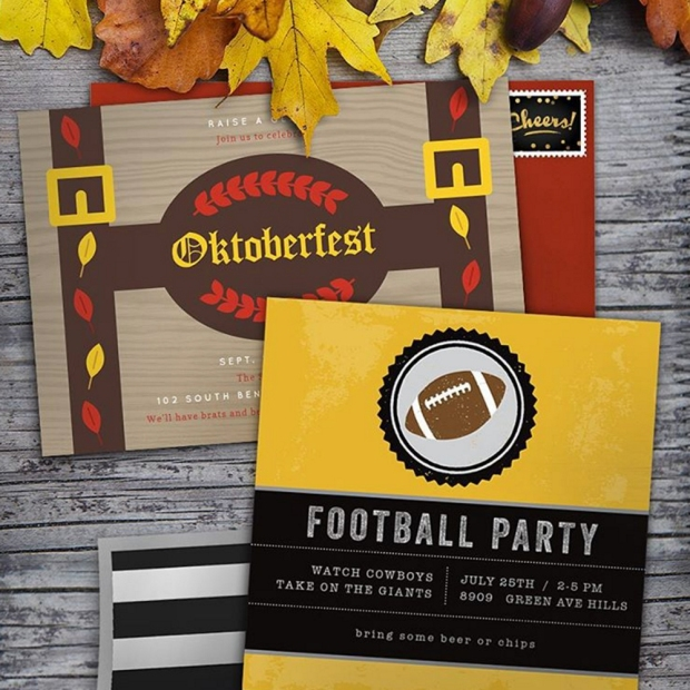 Football Party Invite Card by Claudia Owen for Greenvelope