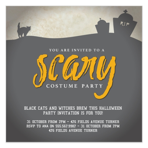 Halloween Party Invite by Claudia Owen for Pingg 2