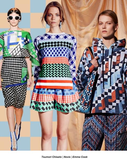 Checker mash print inspiration Claudia Owen Blog