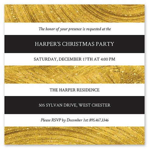 Christmas Party Invite Card by Claudia Owen for FineStationery