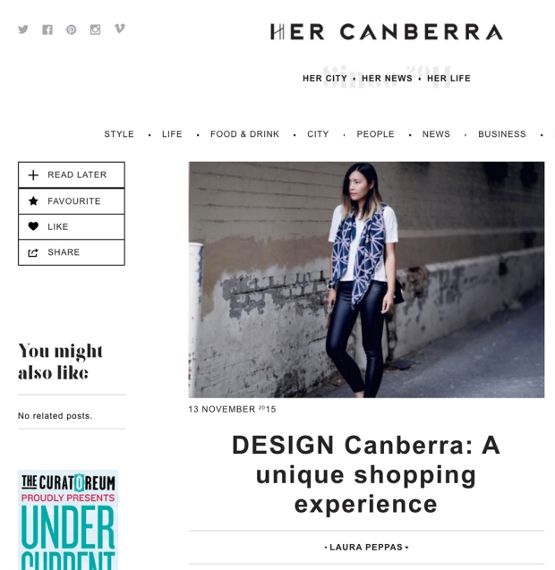 DESIGN Canberra A Unique Shopping Experience Claudia Owen Feature
