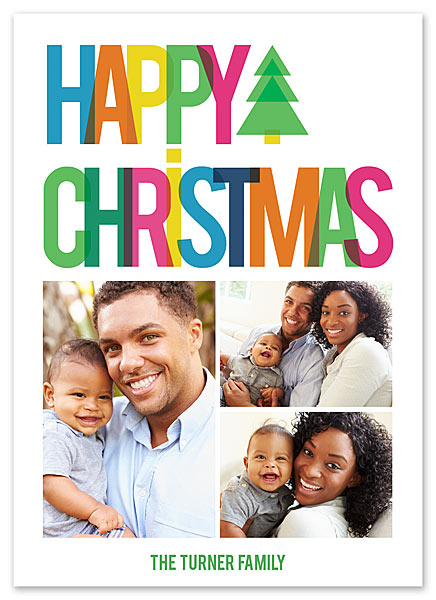 Happy Christmas Card by Claudia Owen for FineStationery