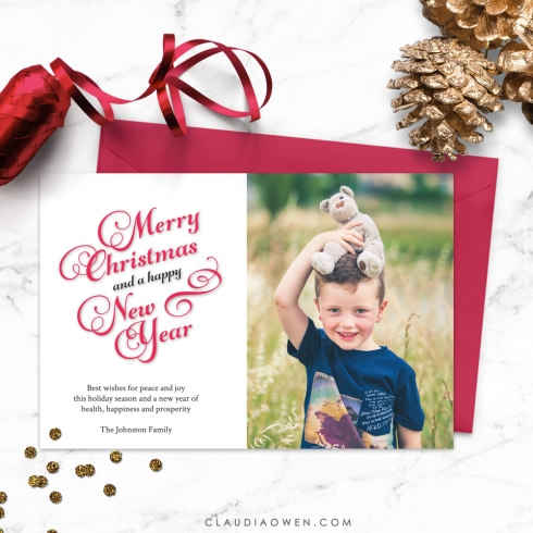 Christmas card design by Claudia Owen for Etsy 2