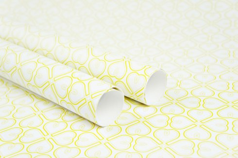 Sweet-Hearts-in-Yellow-Wrapping-Paper-Design-for-Handmade-Shop-Canberra-by-Claudia-Owen-1