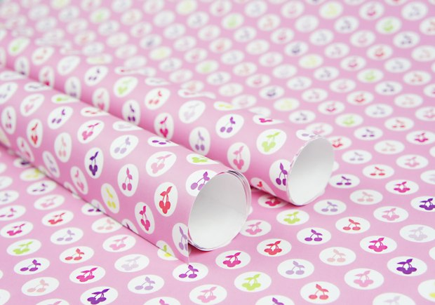 Yummy-Cherries-Wrapping-Paper-Design-for-Handmade-Shop-Canberra-by-Claudia-Owen-1