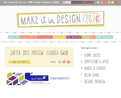 Make it in Design Feature Claudia Owen Surtex 2015 1