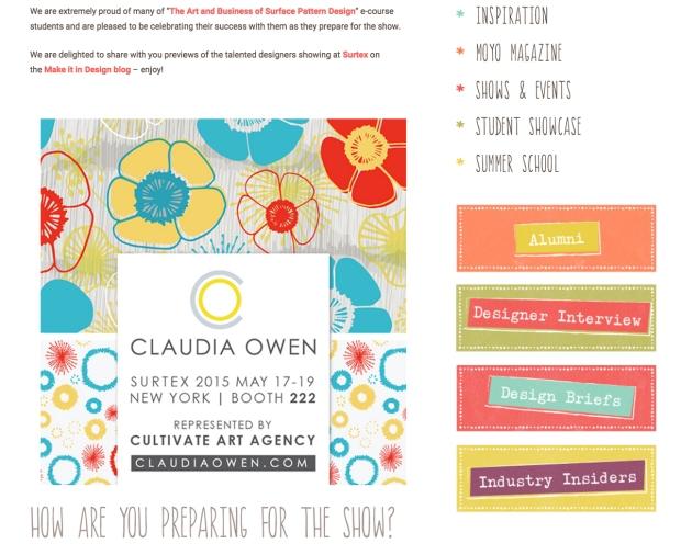 Make it in Design Feature Claudia Owen Surtex 2015 2