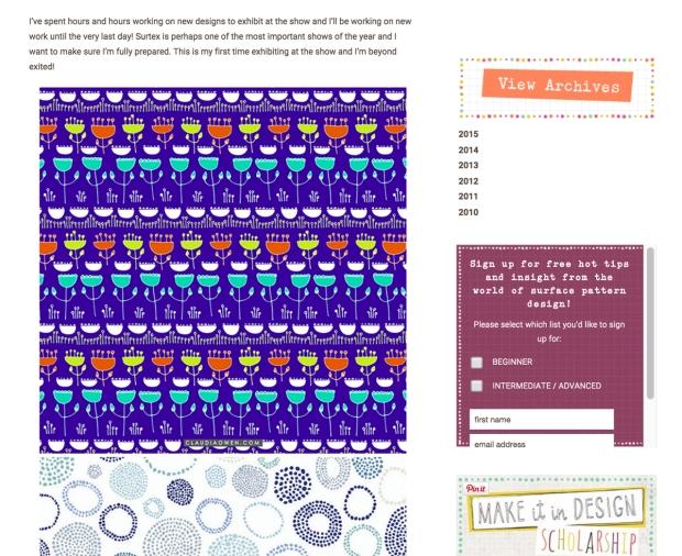 Make it in Design Feature Claudia Owen Surtex 2015 3