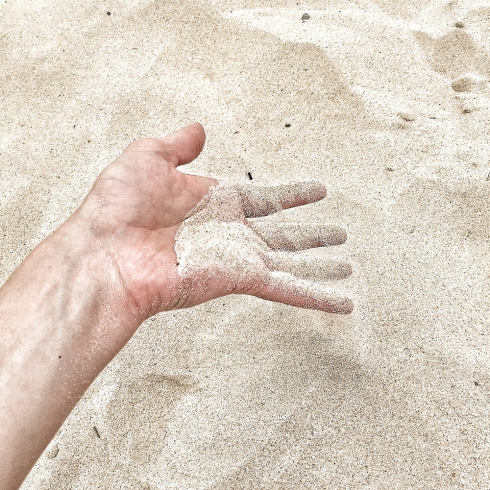 Mooloolaba Beach Sand Photography by Claudia Owen
