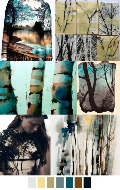 Tree of life trend board by Pattern Curator Featured in Claudia Owen Blog