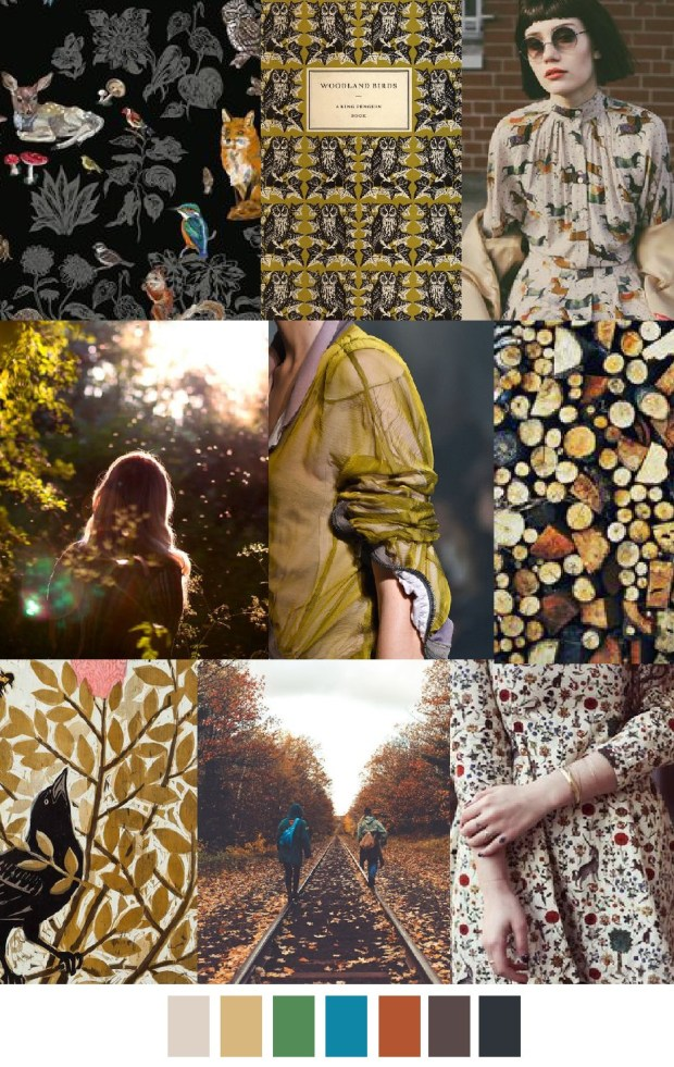 The Woodlands Moodboard Trends by Pattern Curator Featured on Claudia Owen Blog