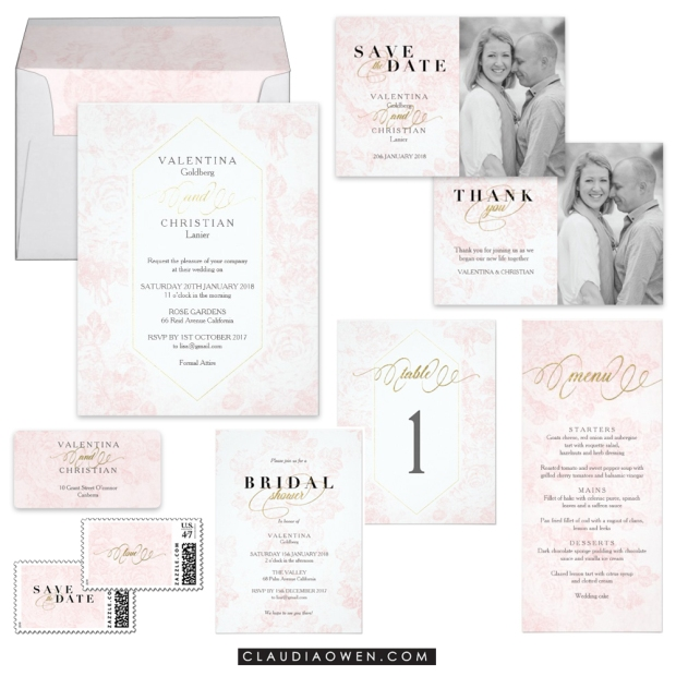 Wedding Invitation Collection Suite Design by Claudia Owen for Zazzle
