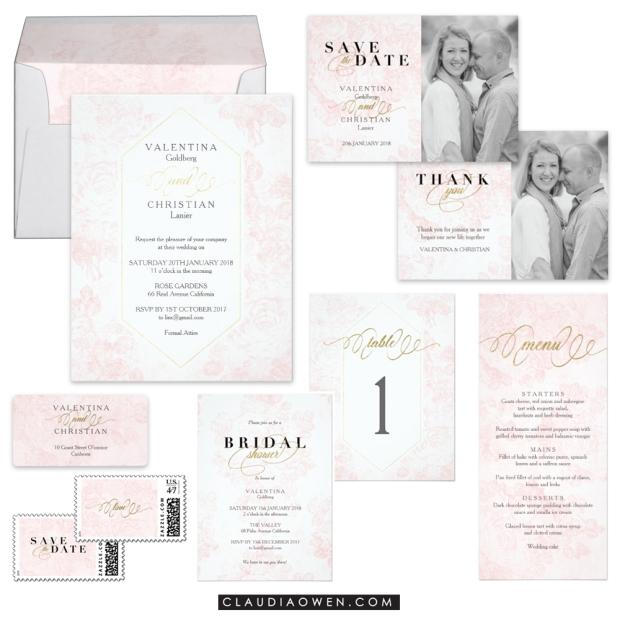 Wedding Invitation Collection Suite Design by Claudia Owen for Zazzle